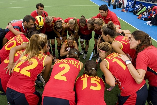 Hockey trainingskampen Spanje